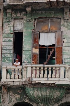 Crumbling Buildings along the Malecon . Havana