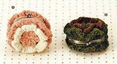 Porte-monnaies - Fleurs et Applications au Crochet