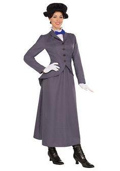 English Nanny Mary Poppins Magic Disney Fancy Dress Up Halloween Adult Costume Disney Costumes, Adult Costumes, Costumes For Women, Literary Costumes, Funny Costumes, Movie Costumes, Character Costumes, Baby Costumes, Family Costumes