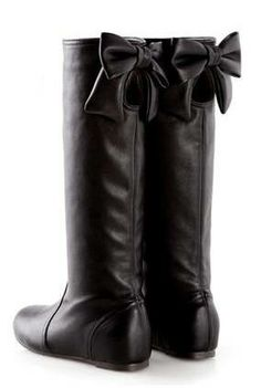 #D+AF Bow-Accent Cutout Tall Boots