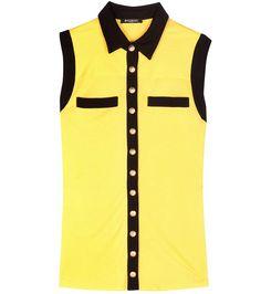 BALMAIN Sleeveless Top. #balmain #cloth #clothing