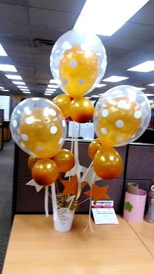 Balloon Arrengement Decor P V CREATIONS Vanessa De Baez Office Birthday Decorations