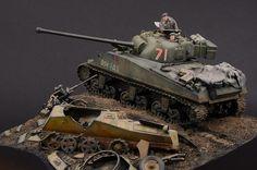Sherman Vc Firefly By Modeler Luc Klinkers Scale Dragon Military Diorama, Military Art, Sherman Firefly, Sherman Tank, Military Modelling, Ww2 Tanks, War Machine, Plastic Models, Scale Models