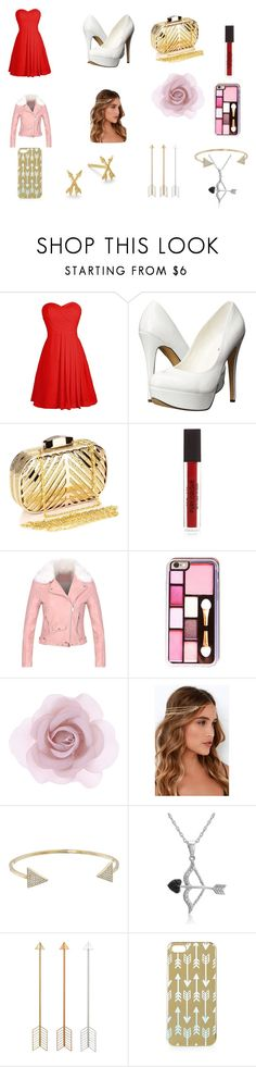 """""""cupid's substitute"""" by kaylareneereichert on Polyvore featuring Michael Antonio, Chicnova Fashion, Accessorize, Lulu*s, Michael Kors, Amanda Rose Collection, Topshop, Dogeared, women's clothing and women"""