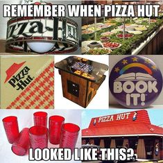 childhood My Pizza Hut nostalgia back in - 90s Childhood, My Childhood Memories, Great Memories, Vintage Magazine, 80s Kids, Wattpad, Pizza Hut, Pizza Food, I Remember When