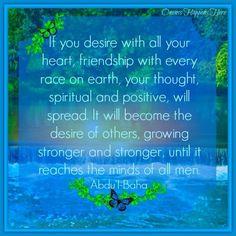 A Baha'i interpretative quote from Abdu'l-Baha, the secondary leader of the Baha'i Faith after his father, Baha'u'llah, who was its prophet-founder.