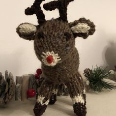 Christmas Tree, Reindeer and Elf Knitting pattern by Knitables Festival Decorations, Christmas Tree Decorations, Christmas Crafts, Cable Knit Blankets, Knitted Blankets, Knitted Throw Patterns, Knitting Patterns, How To Start Knitting, Double Knitting