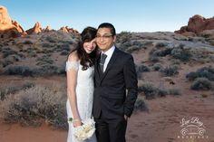 Congrats Kristen & Andrew! #valleyoffirewedding #desertwedding #luvbug #lasvegaswedding