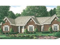 The Broomfield Traditional Home has 3 bedrooms, 2 full baths and 1 half bath. See amenities for Plan 025D-0075.