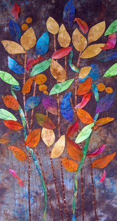 Those that come and go  art quilt  Lorie McCown