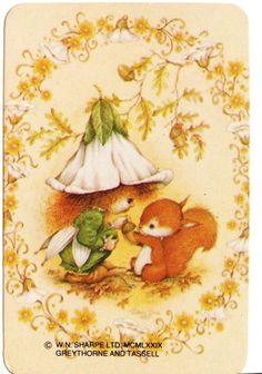 vintage SWAP CARDs 1970s Blank back little girl sugar plum fairy