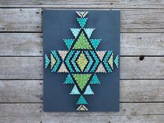 Aztec / Native Pattern - Navajo Design - String & Nail - Made in Montana