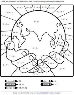 Free Printable Earth Day Worksheets for Kids - Preschool and Kindergarten Free Printable Earth Day Worksheets for Kids – Preschool and Kindergarten Earth Day Worksheets, Earth Day Activities, Worksheets For Kids, Math Activities, Addition Worksheets, Math Worksheets, Continents Activities, Comprehension Worksheets, Camping Activities