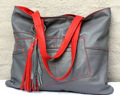 Handmade Large Leather Bag Hobo Bag Recycled Leather от byBessert