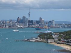 Auckland from North Head in Devonport. One of the most exclusive suburbs on the North Shore, easily reached by ferry from the CBD, Auckland New Zealand, Lorde, North Shore, San Francisco Skyline, Travel Photos, Places Ive Been, New York Skyline, Adventure, Architecture