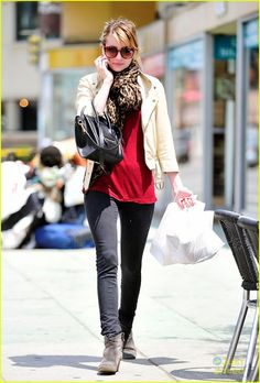 Red plus leopard scarf!
