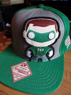 06a59487e0c14 Green Lantern Funko Pop Heroes Flat Bill Brim Snapback Hat Cap Lid DC  Comics in Clothing