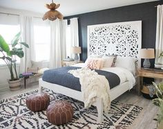Patridge is quite the decorator herself. Audrina had purchased the amazing bed right when we started working together so that was definitely the focal point of the space and what we designed...