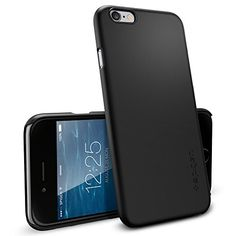 iPhone 6 Case, Spigen® [Non-Slip] [Exact-Fit] iPhone 6 (4.7) Case Slim **NEW** [Fit Series] [Thin Fit] [Smooth Black] Premium SF Coated Non Slip Surface with Excellent Grip Matte Hard Case – ECO-Friendly Packaging – Slim Case for iPhone 6 (4.7) (2014) – Smooth Black (SGP10936)