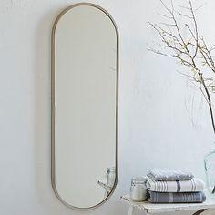 Metal Oval Floor Mirror #westelm