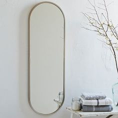 Metal Oval Floor Mirror #westelm