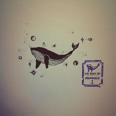 #Design #Drawing #Draw #Doodle #Line #Art #illust #ink #Whale #Universe #Star…