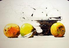 [정물수채화] 모과정물 - 수채화과정 : 네이버 블로그 Painting, Art