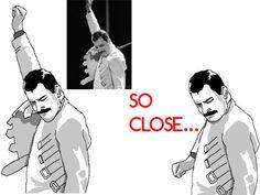 """Freddie Mercury """"So close"""""""