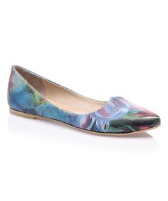 This Blue & Purple Abstract Gothic Leather Flat is perfect! #zulilyfinds