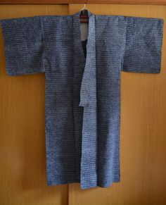 Men's dark blue cotton yukata, vintage Japanese yukata robe, kimono style dressing gown by StyledinJapan on Etsy