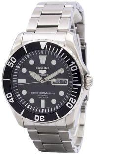Seiko 5 Sports SNZF17 Black Dial Stainless Steel Automatic Men's Watch