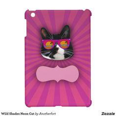 Wild Shades Neon Cat iPad Mini Cover