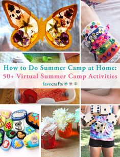 Create great memories this summer while staying at home! This Virtual Summer Camp schedule is perfect for keeping kids active and having fun all summer long. Summer Camp Activities, Summer Crafts For Kids, Summer Kids, Family Activities, Rainbow Snacks, Best Summer Camps, Camping Crafts For Kids, New Crafts, Children Crafts