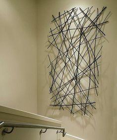Composición de pared con ramitas