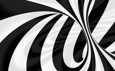 Download wallpapers vortex, 4k, black and white, 3d, art, lines