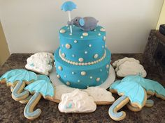Elephant baby shower cake. Sweets by Rae