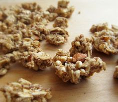 crunchy almond granola clusters