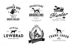Dog Kennel Logo Badges - Logos