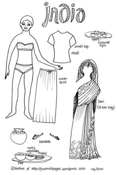 Paper Dolls of Ancient Japan, China, India and North American Indians | Practical Pages