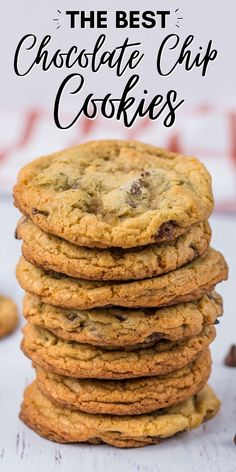The best easy chocolate chip cookies recipe! Make classic chocolate chip cookies from scratch as a delicious dessert for any occasion. Best Easy Chocolate Chip Cookie Recipe, Delicious Cookie Recipes, Holiday Cookie Recipes, Easy Cookie Recipes, Yummy Snacks, Easy Desserts, Dessert Recipes, Bar Recipes, Cookie Ideas
