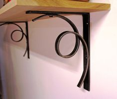 Modern Iron Scroll Brackets Style 03 by ArtisansoftheAnvil