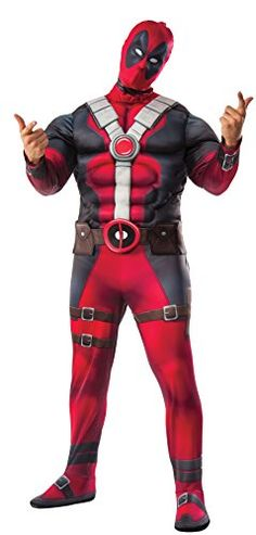 Ensure astonishing party fun with Marvel Deadpool Deluxe Adult Costume. Grab more meaningful cheer time with Deadpool Costumes for Halloween, Birthday, Christmas at ToyHo. Super Hero Costumes, Boy Costumes, Movie Costumes, Adult Costumes, Marvel Costumes, Deadpool Halloween Costume, Adult Halloween, Halloween Christmas, Halloween Ideas