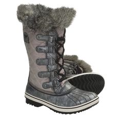 20d9845cfca Sorel Tofino Sorel Boot Gray Distressed w Faux Fur Sorel Tofino Womens Gray  Distressed boot.