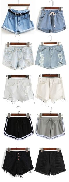 Must-have for hot summer. Classic blue denim shorts, street ripped denim shorts, new fashion sport shorts and black denim shorts. Cheap Shop at http://www.romwe.com/www-festival-checklist-vc-1501.html Nail Design, Nail Art, Nail Salon, Irvine, Newport Beach