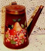 artist peter ompir | WILLIAMSBURG COLLECTION II FRUIT ON ANTIQUE DUTCH COFFEE POT PATTERN ...