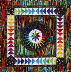 """Becolourful Designs """"Štěstí"""" Quilt vzor - Založení papíru Sestavujeme Pattern Jacqueline de Jonge (včetně základové papíry)"""