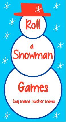 Teacher Mama | Roll a Snowman Games and FREEBIE {After School Linky}