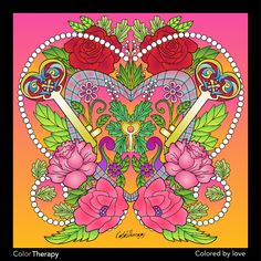 I colored this myself using Color Therapy App. It was so fun and relaxing! And it's Free! Vera Bradley Backpack, Therapy, App, Artwork, Free, Color, Colour, Work Of Art, Apps