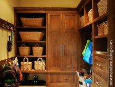 The mudroom as a separate room.