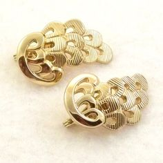 Vintage Monet Earrings 1920s Inspired 1960s Clip Ons by Revvie1, $12.00